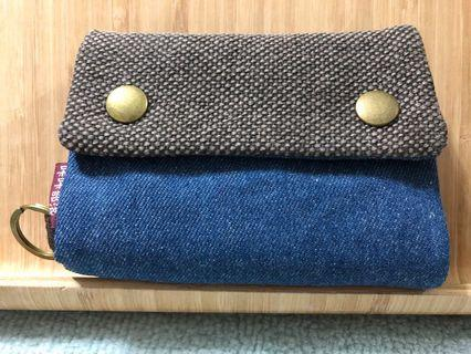 🚚 Unique Blue Fabric Wallets with compartments -Free Smart Pac Mail