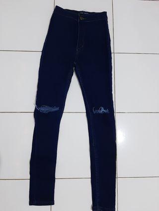 Jeans High Waist Navy Blue