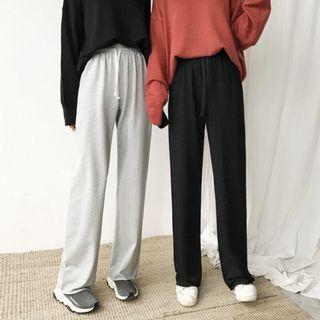 韓版新款經典百搭舒適莫代爾寬鬆休閒長褲寬褲女褲子學生女裝