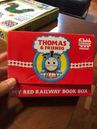 Thomas&Friends my red railway book box 托馬斯火車套裝書4本