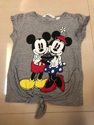 H&M mickey noise T-shirt 4-6 years
