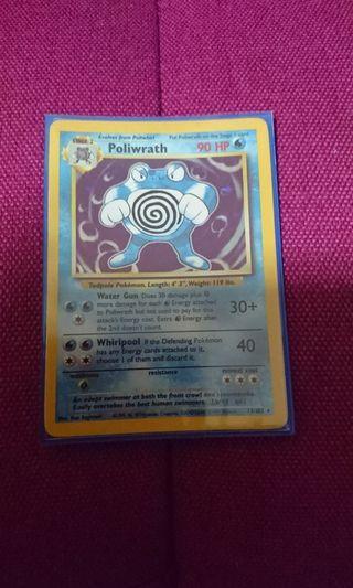 Pokemon trading card poliwrath