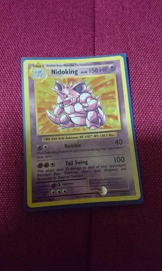 Pokemon trading card nidoking