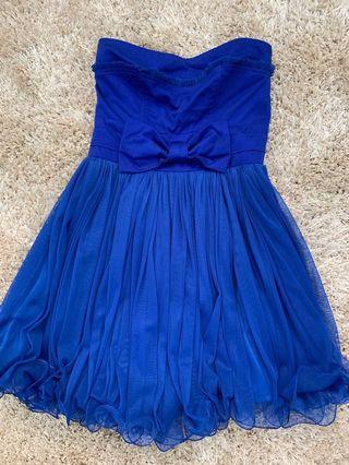 Blue formal cocktail dress