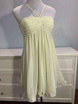 Only pale green dress