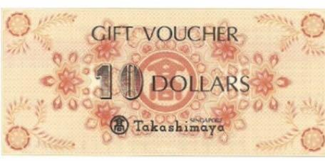 Takashimaya voucher$1000