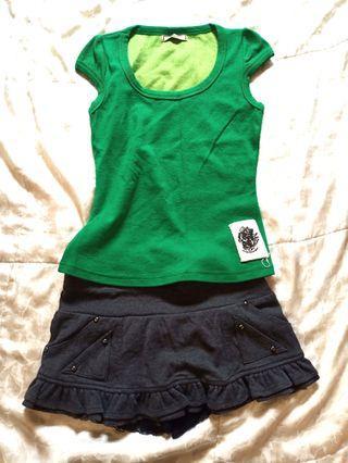 🚚 Series 草綠色 短袖上衣