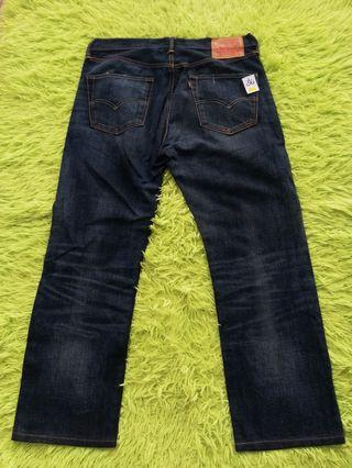 Levi's 501 Leather Patch Jeans