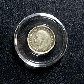 1934 - UK King George V Three Pence [EF] [0.500 Silver] - Duit Lama/ Old Coin