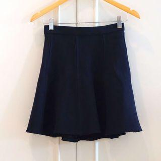 Navy Zara skirt high waist