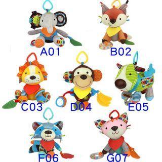 可愛動物 多功能安撫玩偶 可水洗(兩隻(含)以上單價:250元)