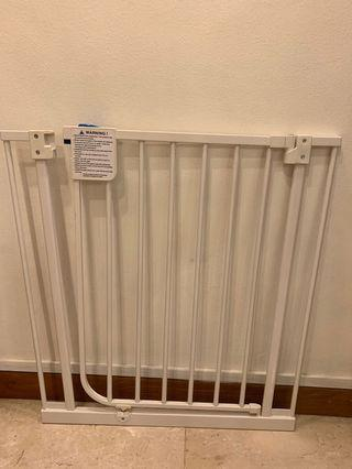 Close Pressure Fit Metal Gate.. to prevent infant from exiting room. W68xH76cm