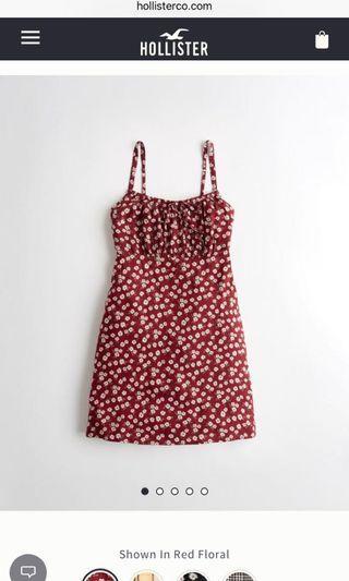 Hollister tie front babydoll dress