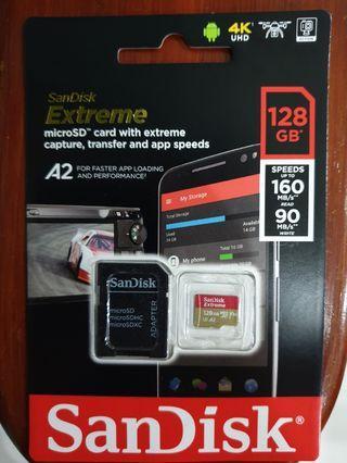 Sandisk Extreme 128gb Microsd card 160mb/s