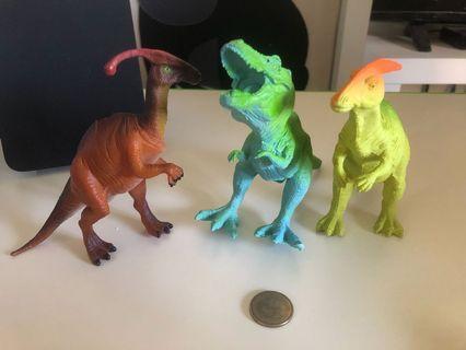 🚚 恐龍模型 3隻