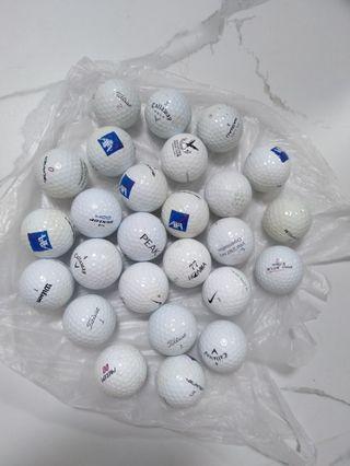 Golf Balls ( used, mixed- total 25 balls)