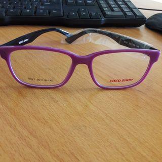 #MAUVIVO New Kacamata Bening Frame Ungu Gg Hitam Bs Ganti Lensa Import
