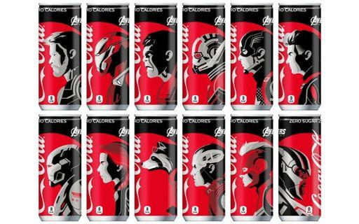 🚚 VERY RARE & HOT! *Pre-Order* Marvel Licensed Avengers Endgame 12 different characters design Coca Cola Coke Zero (250ml) cans Japan Version (Full Set)!