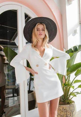Sheike White Blazer Dress
