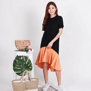 🚚 Kenzie Colorblock drophem Dress