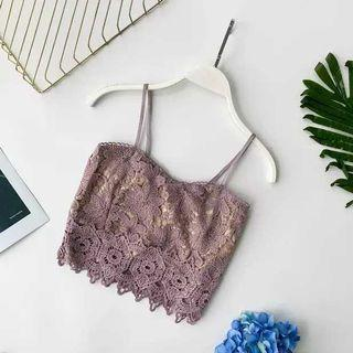 Purple Lace Crop Top