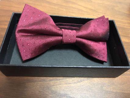 酒紅色Bow Tie