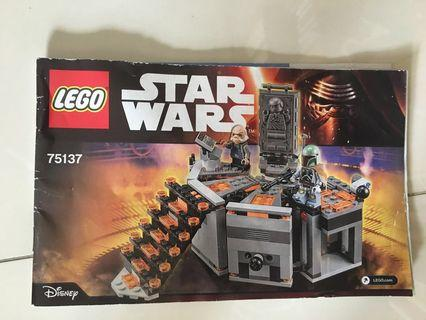 🚚 Lego Star Wars Carbon-Freezing Chamber #75137 + 3 figures