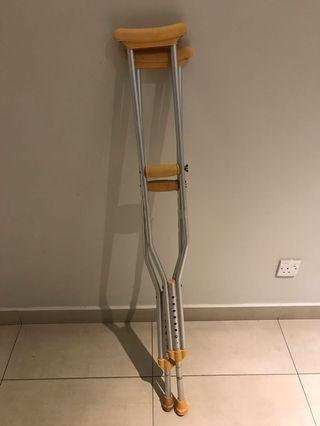 Crutches to let go