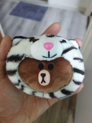 LINE Bear with White Tiger Coin Pouch