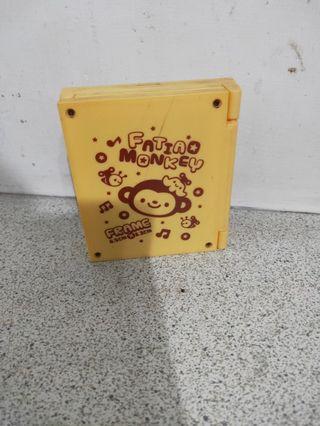 猴子_三折相框鏡子時鐘
