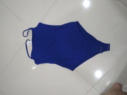 Blue body suit cotton on