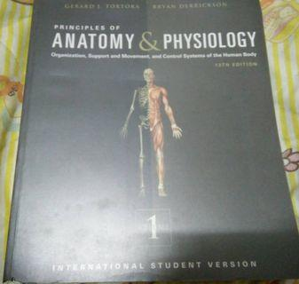 Principles of anatomy & physiology gerard + tortora 13th edition. Volume 1 + 2. International student edition