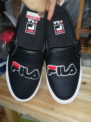 全新韓國fila classic kicks mule黑色半拖懶人鞋