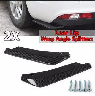 Universal carbon fiber rear splitters