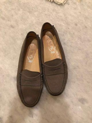 Authentic Tods Grey Loafers