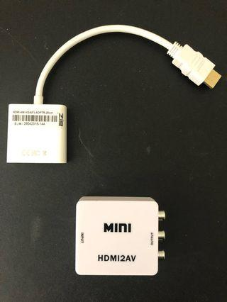 Display Adapters - HDMI to VGA & HDMI to RCA