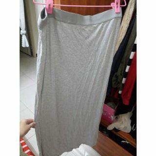 H&M 灰色長裙L號