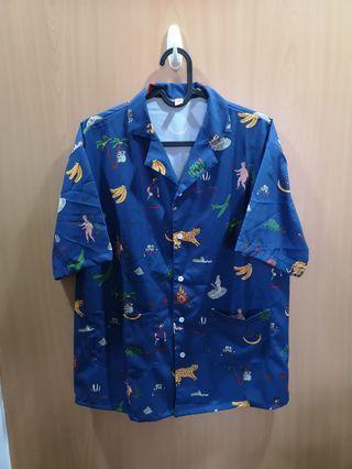 Vintage Bowling Shirt with Dank prints
