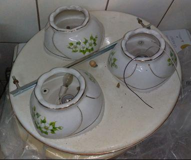 早期陶瓷燈罩吸頂燈