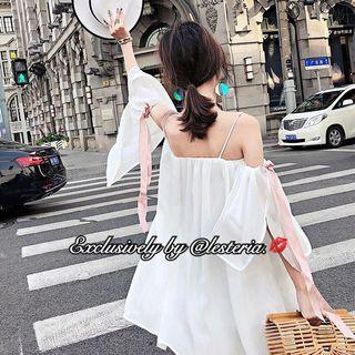 Celestine Ribbon Sleeve Cami Dress