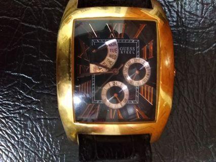 Gold plated Guess Quartz Watch
