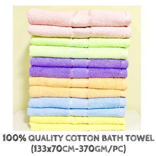 100% QUALITY COTTON BATH TOWEL (370GM/TOWEL)✨