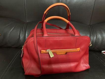 Furla Handbag (red and orange)