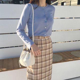 🚚 77s購入正韓布朗尼格紋裙 hellocik lalau wuly