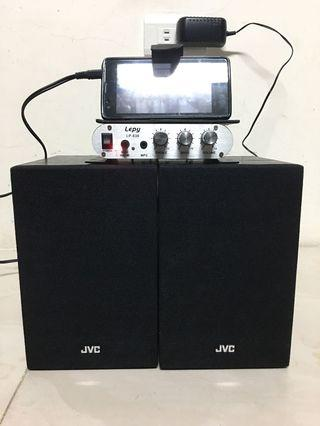 2.1 amplifier jvc speakers set subwoofer out 重低音輸出音響擴大 喇叭機組合