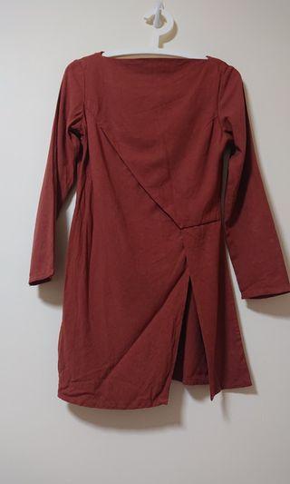 🚚 Red Brick colour Blouse - Hana Tajima HPJ Uniqlo