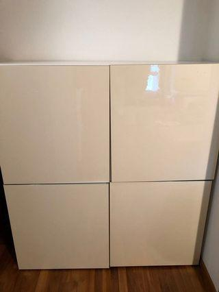 IKEA large cabinet/shelves/wardrobe with doors