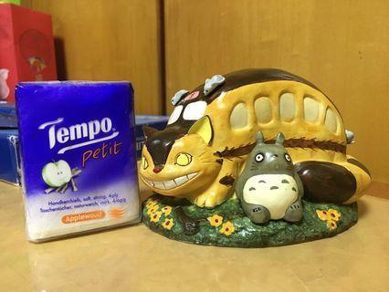 全新絕版正版龍貓Totoro貓巴士錢箱