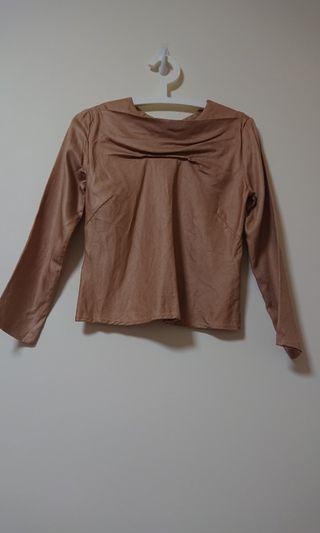🚚 Golden brown Blouse - Haba Tajima HPJ uniqlo