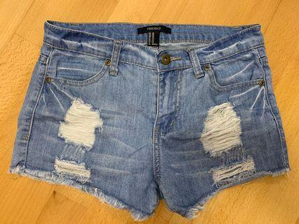 Forever 21牛仔短褲